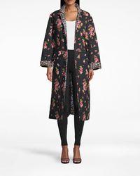 Nicole Miller Pink Dawn Reversible Oversized Jacket - Black