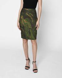 Nicole Miller Camo Swirl Sandy Skirt - Green