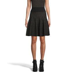 Nicole Miller Diamond Jacquard Skirt - Black