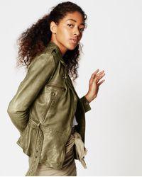 Nicole Miller Sammi Leather Jacket - Green