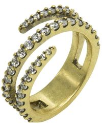 Nicole Miller | Pave Coil Ring | Lyst