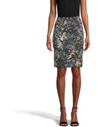 Nicole Miller Moonlit Garden Nina Skirt - Black