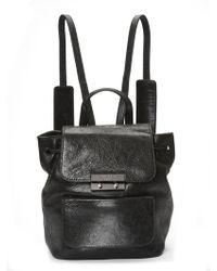 Nicole Miller Legend Leather Backpack - Black