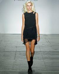 Nicole Miller - Cut Out Shoulder Grommet Dress - Lyst
