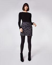 Nicole Miller Camo Mini Skirt - Black