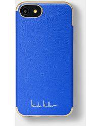 Nicole Miller Iphone Crosshatch 6/6s/7/8 Case - Blue