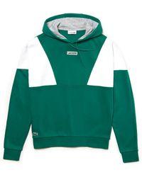Lacoste Sport Hooded Colourbuck Fleece Sweatshirt - Multicolor