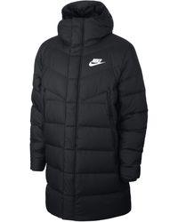 Nike Parka con cappuccio Sportswear Windrunner Down-Fill - Nero