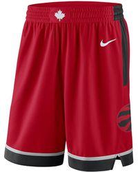 fd1326ca342033 Nike - Toronto Raptors Icon Edition Swingman Men s Nba Shorts - Lyst