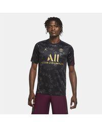 Nike Paris Saint-germain Pre-match Short-sleeve Football Top - Black