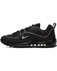 Nike Air Max 98 Black/ Metallic Silver-Oil Grey-Vast Grey - Negro
