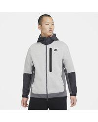 Nike - Sportswear Tech Fleece Full-zip Woven Hoodie - Lyst
