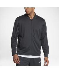 6e391eb28977 Lyst - Nike Hyper Elite All Day Full Zip Basketball Jacket in Black ...