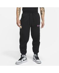 Nike Paris Saint-Germain Fleece-Hose - Schwarz