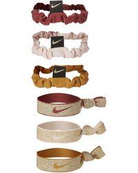Nike Zopfbänder (9er-Pack) - Pink