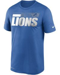 Nike Dri-FIT Team Name Legend Sideline (NFL Detroit Lions) T-Shirt - Blau