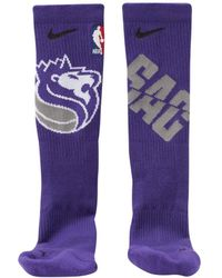 123ffab71 Nike Sacramento Kings City Edition Elite Crew Socks in Blue for Men ...