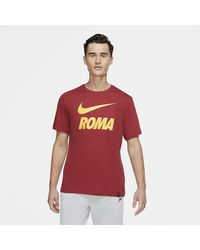 Nike - As Roma Football T-shirt Red - Lyst