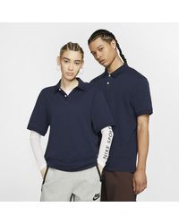 Nike The Polo (without Orange Collar Label) Slim-fit Polo - Blue