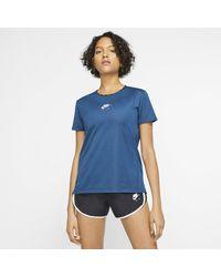 Nike Haut de runningà manches courtes Air pour - Bleu