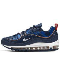 Air Max 98 Premium Unité Totale Shoe Blue