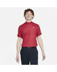 Nike Maglia da golf a manica corta con collo a lupetto Dri-FIT Tiger Woods - Rosso