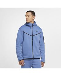 Nike Sportswear Tech Fleece Full-zip Hoodie - Blue