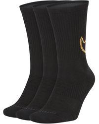 Nike Chaussettes de training mi-mollet rembourrées Everyday Max (3 paires) - Noir