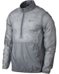 Nike Hyperadapt Shield Lite Half-zip Men's Golf Jacket - Gray