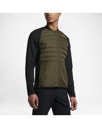 Nike Aeroloft Hyperadapt Men's Golf Jacket - Green