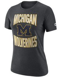 Nike College Dri-fit (michigan) T-shirt - Gray