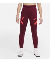 Nike Liverpool F.c. Strike Older Kids' Football Trousers Red