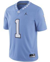 Nike Jordan College Dri-fit Game (unc) Football Jersey - Blue