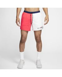 """Nike """" Flex Stride Blue Ribbon Sports 5"""""""" Brief-lined Running Shorts - Red"""