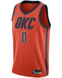 Nike - Russell Westbrook Earned City Edition Swingman (Oklahoma City Thunder) NBA Connected Trikot für Herren - Lyst