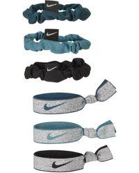 Nike Elastici per capelli (confezione da 6) - Verde