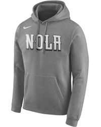 official photos 00db6 aebde Nike New Orleans Saints Performance Circuit Logo Essential Hoodie in  Metallic for Men - Lyst
