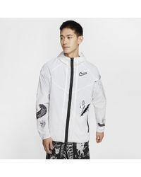 Nike Giacca da running Windrunner Wild Run - Bianco