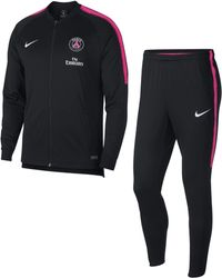 Nike Paris Saint-germain Dri-fit Squad Football Track Suit - Black