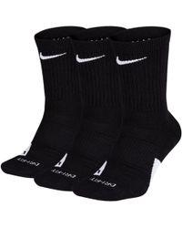 Nike Calze da basket Elite di media lunghezza (3 paia) - Nero