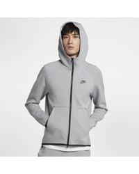 Nike Sweatà capuche entièrement zippé Sportswear Tech Fleece pour - Gris