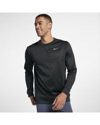 83974a1eb099 Lyst - Nike Dry Men s Long Sleeve Training Top in Black for Men
