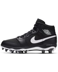 Nike Synthetic Jordan 1 Td Mid Football Cleat In Black For Men Lyst