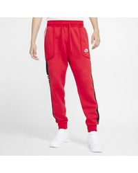 Nike Jogger in fleece Air - Rosso