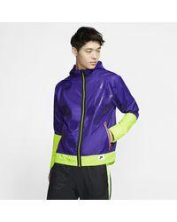 Nike Shield Flash Running Jacket - Purple