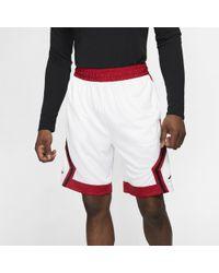 Nike Short de basketballà rayures Jordan Jumpman Diamond pour - Blanc