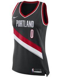 Nike - Damian Lillard Icon Edition Swingman Jersey (portland Trail Blazers) Women's Nba Connected Jersey - Lyst