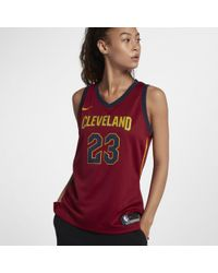 Nike - Lebron James Icon Edition Swingman Jersey (cleveland Cavaliers) Women's Nba Connected Jersey - Lyst