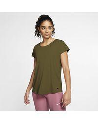 Nike Pro Dri-fit Short-sleeve Top - Green