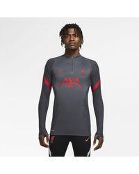Nike Liverpool Fc Vaporknit Strike 1/4-zip Football Drill Top Black